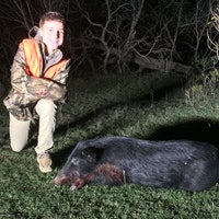 Shooting straight comes natural, especially at pigs!