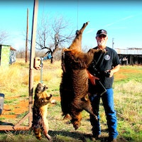 Hey Hogman!!! Remember me from Borger Texas?  I finally got a hog, hunting was tough but one thing is for sure, Game Alert works and I am so happy with it!  I've also killed lots of coons.  You guys were right, animals aren't scared of the Game Alert plus that Flamethrower green light is awesome!  I hope my pic came through to yall, notice the shirt and hat!  l will be getting me another Game Alert soon.   Please let the owner / inventor know I said thanks!<br /><br />Kenneth Sibley