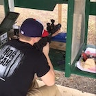 Gun range in League City, Tx sighting in the AR15, getting ready for the hunt. Bring on the hogs, bring on the night!